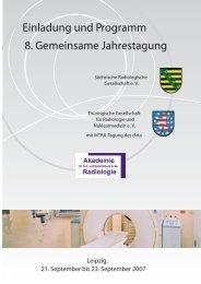 Einladung und Programm - Sächsische Radiologische Gesellschaft