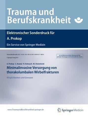 Trauma und Berufskrankheit - Klinikverbund-Südwest