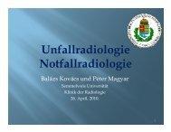 Richtlinie zur Wahl der bildgebenden Verfahren RTG Sono CT MRT