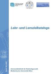 Lehrzielkataloge - Medizinische Universität Wien