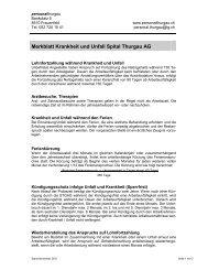 Merkblatt Krankheit und Unfall Spital Thurgau AG - Personal Thurgau