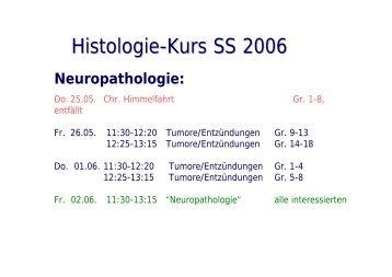 Histologie-Kurs SS 2006