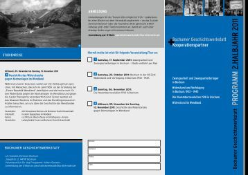 Programm 2.HalbjaHr 2011 - Soziales Zentrum