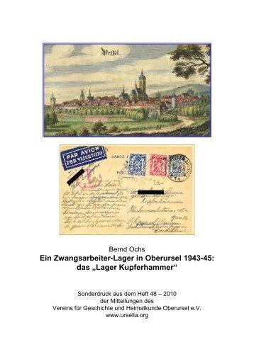 Ein Zwangsarbeiter-Lager in Oberursel 1943-45 - Verein für ...