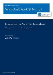 Wirtschaft Konkret Nr. 107 - Insolvenzen in Zeiten der
