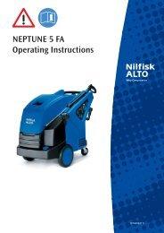 Neptune 5 FA Operating Instructions - Nilfisk PARTS - Nilfisk-Advance