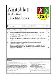 am 14. Oktober 2010 - Stadt Lauchhammer