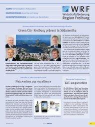 Netzwerken par excellence Green City Freiburg präsent in ...