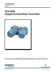 OCX 8800 Oxygen/Combustibles Transmitter - Emerson Process ...