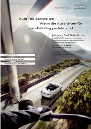 Audi Top Service ist - Autohaus Kirschner