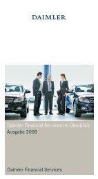 Daimler - Daimler Financial Services im Überblick (Ausgabe 2008)