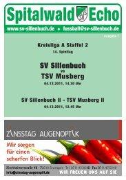 Spitalwald Echo Nr. 7 - Fußball beim SV Sillenbuch