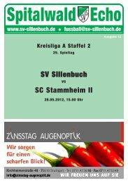 Spitalwald Echo Nr. 12 - Fußball beim SV Sillenbuch