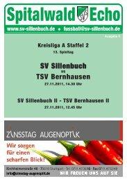 Spitalwald Echo Nr. 6 - Fußball beim SV Sillenbuch