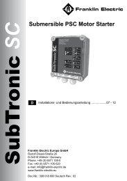 SubTronic BA Deutsch.pdf - Franklin Electric Europa