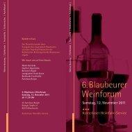 6.Blaubeurer Weinforum - Weinforum Blaubeuren