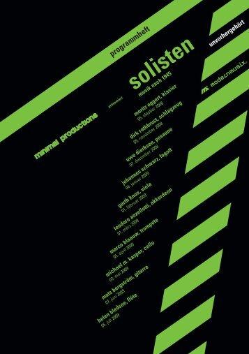 mai 2009 - minimal productions