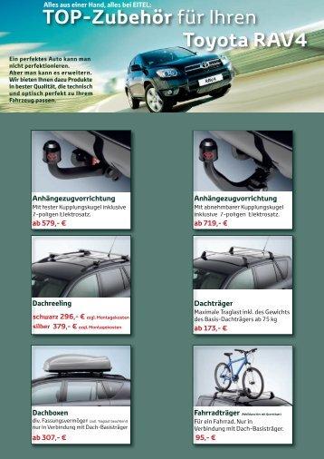 TOP-Zubehör für Ihren Toyota RAV4 - Autohaus Eitel GmbH & Co. KG