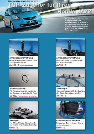 TOP-Zubehör für Ihren Honda JAZZ - Autohaus Eitel