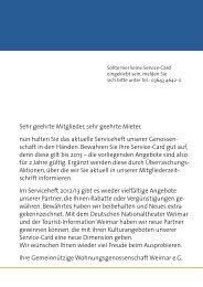 Sehr geehrte Mitglieder, sehr geehrte Mieter, nun ... - GWG Weimar