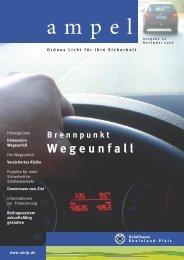 B rennpunkt W egeunfall - Unfallkasse Rheinland-Pfalz