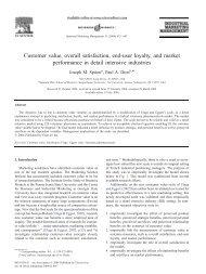 Customer value, overall satisfaction, end-user loyalty ... - Jungkirbalik
