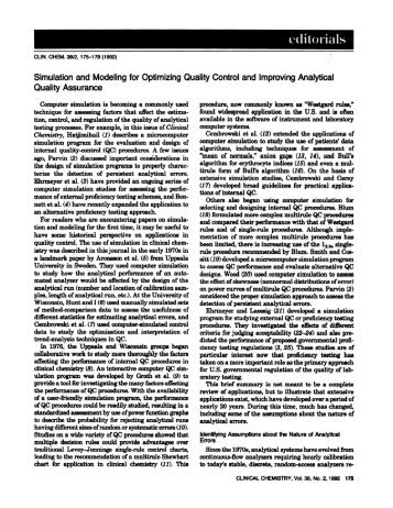 Simulation and Modeling for Optimizing Quality ... - Clinical Chemistry