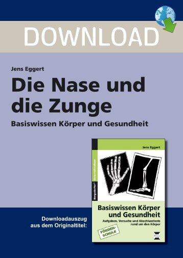 Jens Eggert Die Nase und die Zunge Basiswissen ... - Persen Verlag