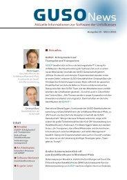 Aktuelle Informationen zur Software der Unfallkassen - GUSO GbR