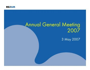 Annual General Meeting 2007