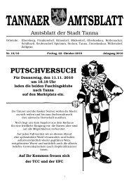 Sonntag, 28. November 2010 - Stadtverwaltung Tanna