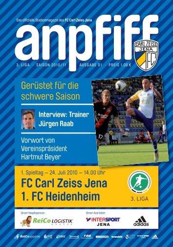 FC Carl Zeiss Jena 1. FC Heidenheim