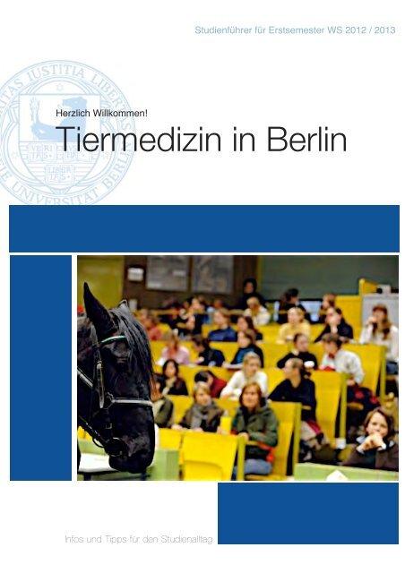 Tiermedizin in Berlin - Fachbereich Veterinärmedizin an der Freien ...