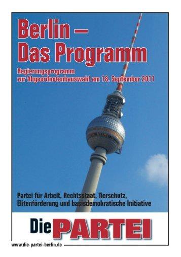 Berlin – Das Programm - Die PARTEI Berlin