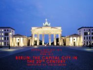 BERLIN: THE CAPITAL CITY IN THE 20TH CENTURY