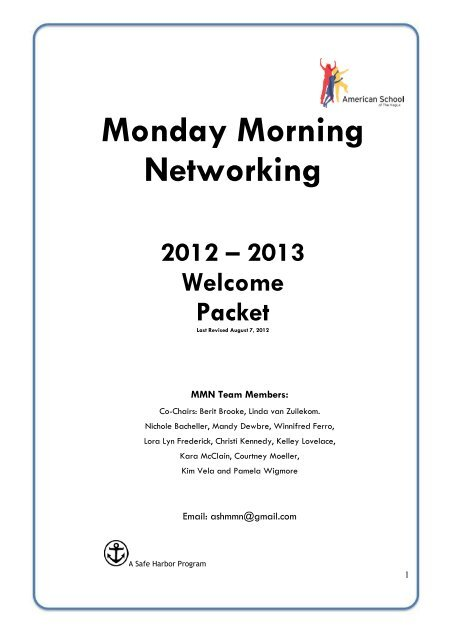Monday Morning Networking - American School of the Hague