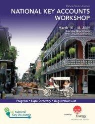 National Key Accounts Workshop Spring 2009 Program/Expo ...