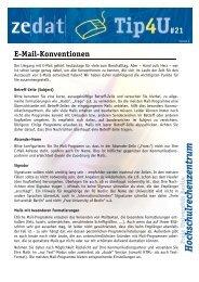 E-Mail-Konventionen - Zedat - Freie Universität Berlin