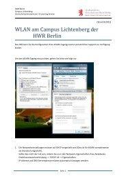 WLAN am Campus Lichtenberg der HWR Berlin