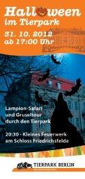 Hall ween im Tierpark 31. 10. 2012 ab 17:00 Uhr ... - Zoo Berlin