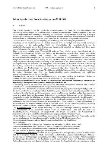 Lokale Agenda 21 der Stadt Strausberg