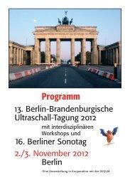 Programm - Berlin-Brandenburgische-Ultraschall-Tagung