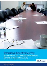Executive Benefits Survey Results of the 2011 ... - Hay Group