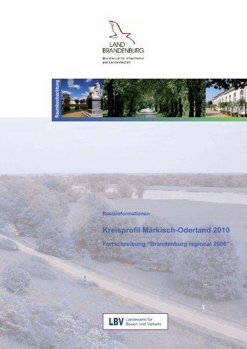 Kreisprofil Märkisch-Oderland 2010 - LBV - Brandenburg.de