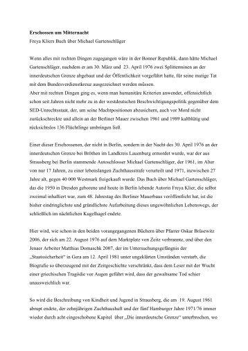 Erschossen um Mitternacht - Geschichtswerkstatt Jena eV
