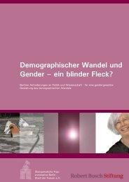 Demographischer Wandel und Gender - Überparteilichen ...