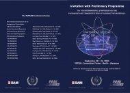 Invitation with Preliminary Programme - TES Technische Sicherheit ...