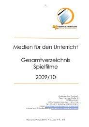Gesamtverzeichnis Spielfilme 2009/10