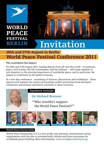 Invitation - World Peace Festival