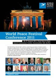 Day 2 - World Peace Festival